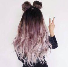 Ombre Hair Color Ideen, die Sie absolut lieben werden #blondebalayage #grey #blondeombre #blueombre #mermaidhair #brown #pastel #blondehair #purplehair