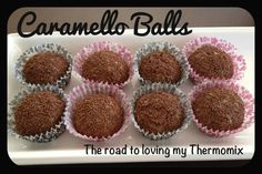 Caramello Balls 250g scotch finger biscuits, roughly broken up 200-220g caramello or rolo chocolate block 395g condensed milk 100g desiccated coconut Sprinkles/Coconut/Cocoa to roll in