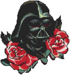 Star Wars cross stitch pattern. Darth Vader cross stitch. Rose xstitch pattern. Floral cross stitch. No299 This is only Darth Vader pattern. If you need in set, please click here: https://www.etsy.com/listing/538135200/star-wars-cross-stitch-pattern-darth?ref=listing-shop-header-0 This