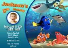Finding Dory 2 Birthday Invitation