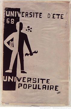 [Mai 1968]. Université d'été 68. Université populaire, Faculté des Sciences : [affiche] / [non identifié]
