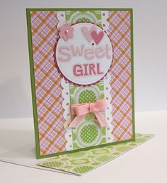 New Baby Girl Card  Handmade Card  pink and by CardsbyGayelynn, $4.50