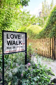 This Love Walk street sign in London is sweet. Located in Camberwell, London, it's one of the prettiest south London streets. The front gardens are beautiful. Camberwell London, Secret Places In London, Camberwell College Of Arts, London Blog, Front Gardens, Walking Street, Brick Facade, Hill Station