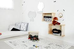 Kids Room decor from spotted our storage sack Floating Nightstand, Kids Room, Essentials, Room Decor, Homes, Storage, Table, Furniture, Floating Headboard