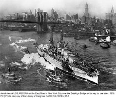 The USS Arizona, that was attacked by the Japanese at Pearl Harbor, was built in the Brooklyn Navy Yard in 1915.