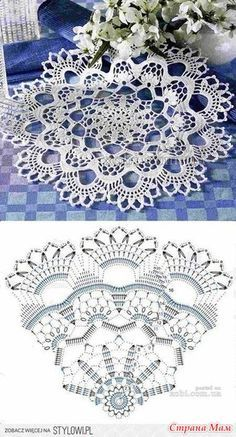 Crochet Doily Rug, Crochet Doily Diagram, Crochet Dollies, Crochet Flower Patterns, Crochet Chart, Thread Crochet, Filet Crochet, Irish Crochet, Crochet Flowers