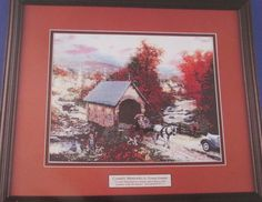 Thomas Kinkade Cross Stitch Kit Country Memories  No. 5062 by RetroExchange on Etsy