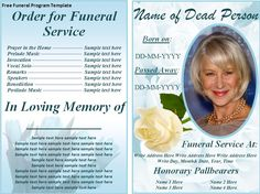 Free Funeral Program Templates | ... on the download button to get this free funeral program template