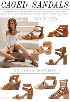 Fashion // Trend Alert: Caged Sandals at LuLus.com!