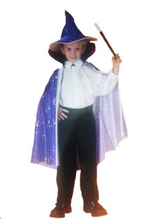 Wizard Cape & Hat Child Costume.