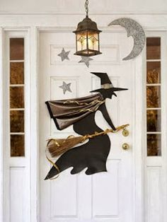 Printable Witch Door Decoration on Good Housekeeping, Halloween, halloween decor, witch, witch door decoration