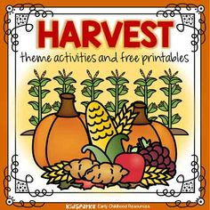 Harvest theme activities and printables for preschool and kindergarten