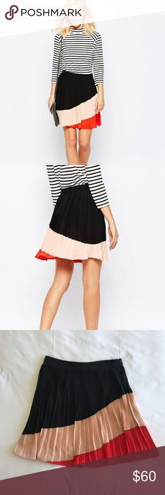 18fb4f9d4 GREYLIN Color Block Pleated Skirt Size Small Brand: Greylin Description:  Color Block Pleated Skirt