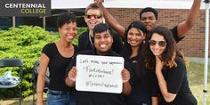 More Centennial College students celebrating Centennial Welcomes Centennial College, College Students, Programming, Community, Thoughts, Celebrities, Inspiration, Biblical Inspiration, Celebs