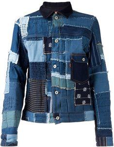 Junya Watanabe Comme Des Garçons Man denim patchwork jacket