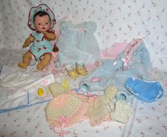 "All Original 1930s Dy-Dee-ette 11"" with Original Layette BOX from dollyologyvintagedolls on Ruby Lane"