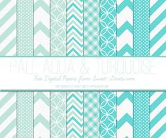Sweet Nothings: Free Digital Paper Set: Pale Aqua and Turquoise