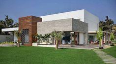 Usine Studio : Architects   Interior Designer   Project Consultants - Vadodara, Gujarat. India Home Theater Room Design, Home Theater Rooms, Terraced Patio Ideas, Farmhouse Design, Apartment Design, Bungalow, Architecture Design, Exterior, Mansions