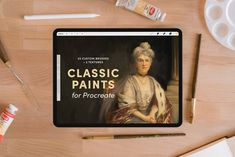 Classic Paints – Procreate Brushes by Sadie Lew on @creativemarket