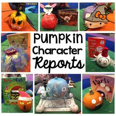 Pumpkin book reports, kindergarten halloween book activity.