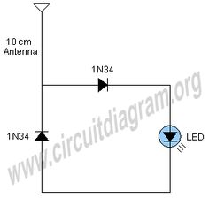 A very simple and interesting project / schematic of a cell phone signal activated LED circuit. The circuit will light up an led when you call from your cell phone. Circuit Projects, Circuit Diagram, Tecno, Diy Electronics, Circuits, Led, Phone, Weekend Projects, Engineering