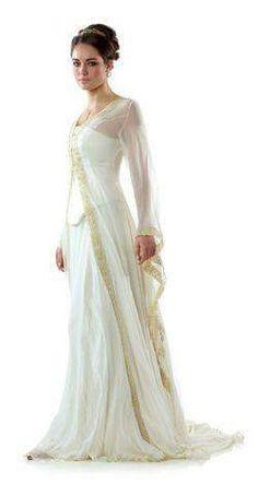Vintage Celtic wedding gown
