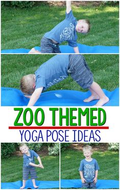 I love these fun ways to move like zoo animals. These are the best for a zoo or animal unit. They are so simple that you don't even need to know about kids yoga. Such fun ideas! Zoo Activities Preschool, Animal Activities For Kids, Animal Games, Motor Activities, Toddler Activities, Animal Yoga, Kids Moves, In The Zoo, Yoga For Kids