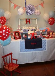 red white and blue birthday