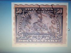 OLD BOB-1898 -# R171 -50 CENT DOCUMENTARY-BATTLESHIP-FINE/VERY FINE