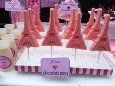 Eiffel Tower chocolate pops