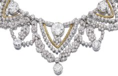 Detail: Spectacular gold and diamond necklace by Marchak. Via Diamonds in the Library.