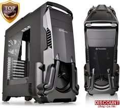 Gaming PC Case Mid ATX Tower Translucent Window Panel Dust Filter Thermaltake #Thermaltake