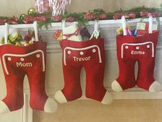 "These are so much better than stockings. You can put more in them. I like the idea of personalizing these with not just the name but maybe a character. Something that can be removed and replaced with new ""likes"". For instance, Disney during the younger years and as they get older, maybe superheroes or sports teams."
