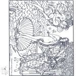 Coloring pages - famous artwork
