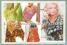 Crochet Patterns. E-book. Instant Download PDF.  Dress,Skirt, Jacket,Coat Irish Lace. Fall Issue Journal  #513