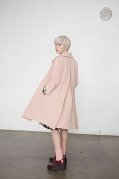 New in at THE WHITEPEPPER http://www.thewhitepepper.com/collections/new-in/products/pink-trench-coat