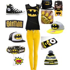 """Bat man"" by lalabear7 on Polyvore"