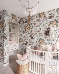 33 vind-ik-leuks, 1 opmerkingen - Karin Bohn (@karinbohn) op Instagram: 'Nursery cuteness. 💕 Design for our BONSON model home project in Pitt Meadows. @mosaic_homes 📸:…' Rose Bedroom, Dream Bedroom, Oh Deer, New Wall, Model Homes, Dorm Room, Baby Room, Cribs, Toddler Bed