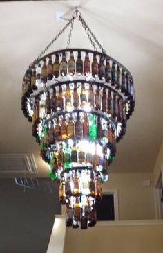 Beer bottle chandelier kit 13500 beer bottle lights and six tier beer bottle chandelier 170000 mozeypictures Image collections