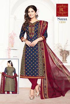 RC Sana Vol-2 Pure Cotton Suits-B (15 pc catalog)