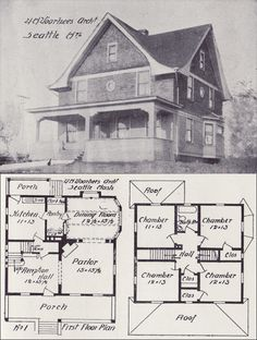 1908 eclectic house plan with arts crafts detail western home builder design no