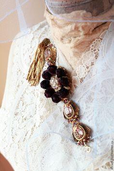 """Купить Браслет """"Valpolicella """" . - браслет, женский браслет, стразы, браслет черный, пайетки, романтика"""