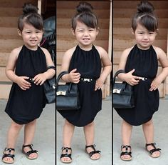 Little fashionista Julia Kaori. She's half Japanese, half Brazilian.