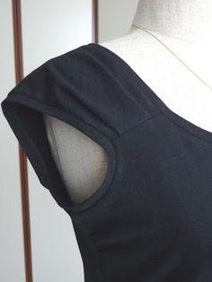 Pleated shoulder detail