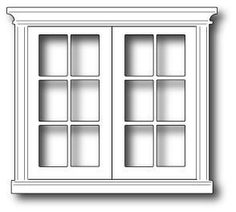 Poppystamps Dies, Grand Madison French Doors