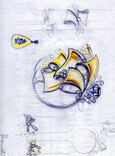 Jewelry sketch designs by Tatyana Sharonova