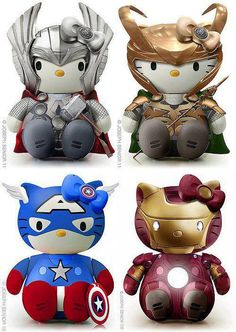 OMG!!!! Avengers & Hello Kitty!!! I REALLY want Loki!