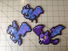 041 Zubat / 042 Golbat / 169 Crobat Pokemon. Perler beads, hama beads, bead sprites, nabbi fuse melty beads
