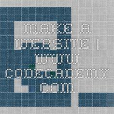Make a Website | www.codecademy.com