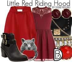Little Red Riding Hood Halloween Rule Breaker! Get the look! | Disney Bound Disney Bound Outfits, Disney Dresses, Disney Clothes, Casual Cosplay, Cosplay Outfits, Cosplay Ideas, Costume Ideas, Costumes, Little Red Riding Hood Halloween